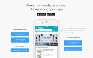 Screen shot of Alexa App that Allegedly Infringes Patents in Suit