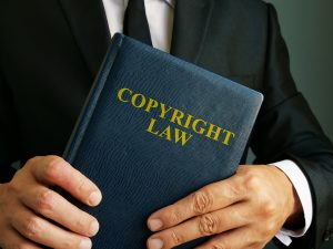 Picture of copyright law book